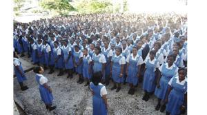 Students of Hampton High School in St. Elizabeth.