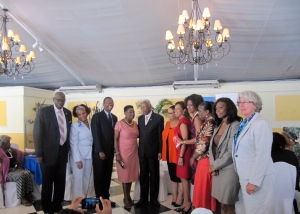 A group photo at the UN Country Team's High Level Breakfast in November, 2014 at which Eve for Life's work was highlighted. Good people - the young women and girls of Jamaica still need your support! (My photo)