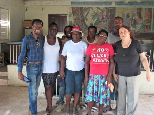 With Damien Williams (far left) and members of the Naggo Head Citizens' Association last year.