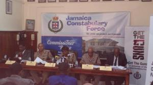 Acting Commissioner of Police Novelette Grant (center) gave a press conference on January 11.