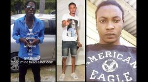 (From left) Murder victims Richard Davis, Romaine Miller and David Bennett, whose bodies were found in Negril this week. (Photo: Loop Jamaica)