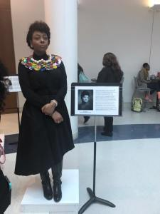 Students at the University of Memphis had a really cool idea during Black History Month: They created a live art installation using students to personify different figures in black history. Here is writer, journalist and activist Ida B. Wells. (Photo: Rokeita Henry)