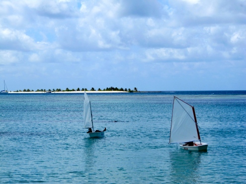 Another way to travel...under sail, at Paradise Beach in Carriacou.