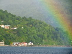 The rainbow as we approached Grenada.
