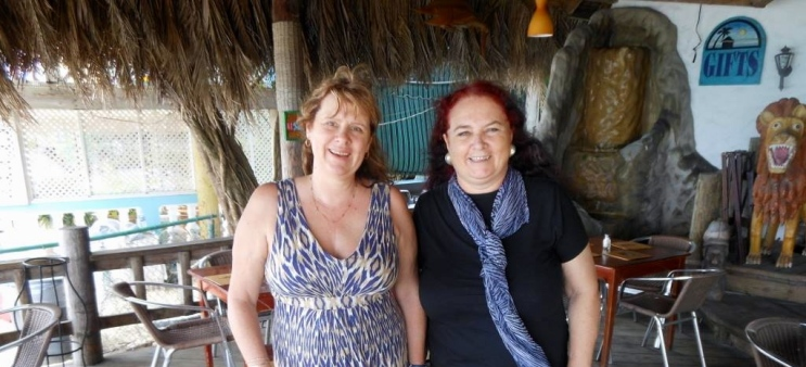 Here I am with a special friend, Catherine Burden (left) - a Canadian blogger, whom I met online. Thanks WordPress! Catherine and her husband visited Negril three years ago, and we finally met up. This was a special day!