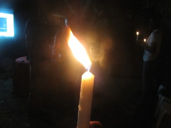 Candlelight vigil for World AIDS Day in Kingston. (My photo)