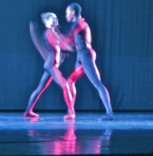 Here's the same two dancers, with a whisp of something... movement.