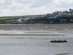 Transport is always a transient thing. Here for a moment or two, and then gone. Here are some boats near the mouth of the River Camel, near Padstow in North Cornwall. (My photo)