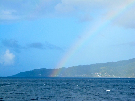 A rainbow over the sea near Grenada (I took this photo from the ferry).