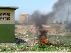 Open burning like this (in Naggo Head, St. Catherine) is actually illegal, but it goes on in so many places, unfortunately.