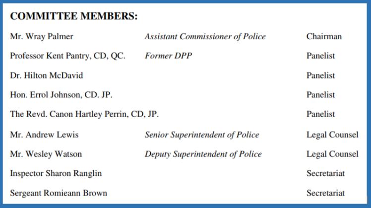 JCF Admin Review Comm members