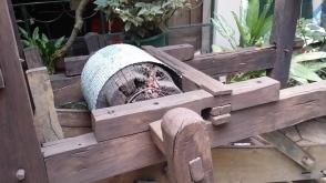 Wooden implement, Alhambra Inn, Kingston.
