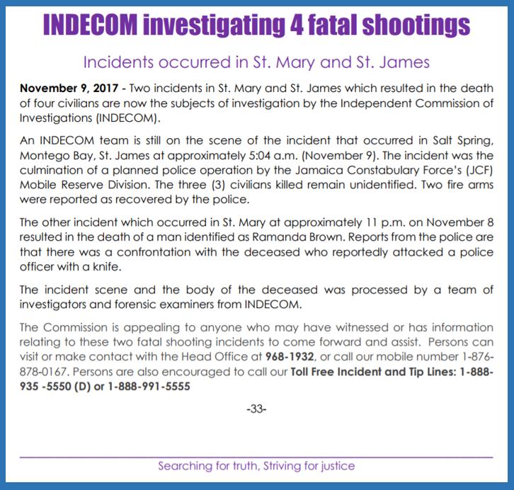 INDECOM Nov 9 2017 release