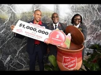 I always know Christmas is around the corner when the Salvation Army launches its annual Kettle Drive. This year the target is $16 million. Do support them! (Photo: Gladstone Taylor/Gleaner)