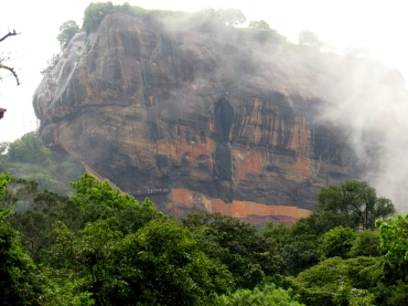 "The Sigiriya ""Lion Rock"" on a rainy day."