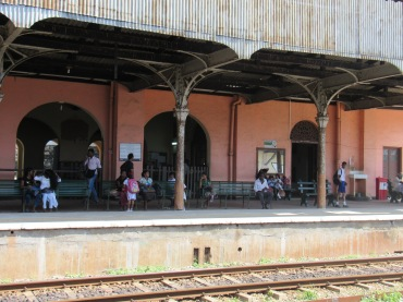 The railway station at Mount Lavinia, near Colombo.