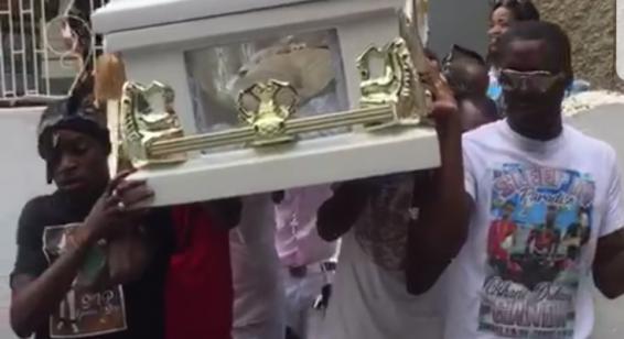 "The funeral of alleged gang leader ""Ganda"" ended in tragedy."