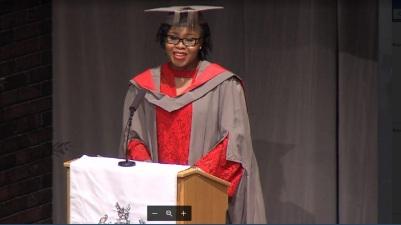 Jamaican Chevening Scholar Kemesha Kelly was valedictorian at the University of York's graduation recently.