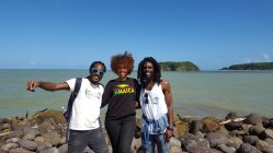 Three happy Educatours participants in St. Mary