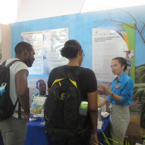 Last week was International Day for Women and Girls in Science. Special big ups to the women of the Physics Department at the University of the West Indies, lead by Dr. Tannecia Stephenson & the Climate Studies Group. Here they are at UWI's Research Day. (Thanks to @PPCRCaribbean for this photo and information)
