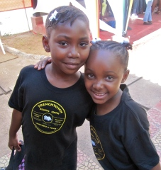 A different kind of sweetness... Two little girls at the Trench Town Reading Centre. (My photo)