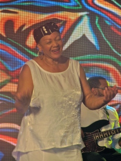 A few years ago, at the U.S. Embassy's Black History Month Concert in Emancipation Park, this member of Sweet Honey on the Rock simply epitomised love for the audience...