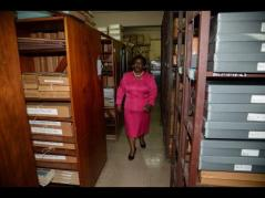 National Librarian Beverley Lashley is running out of space. (Photo: Gleaner)
