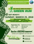 Join the Green Run with C-CAM this year! For a good cause!