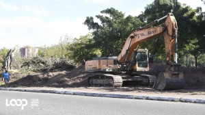 Deforestation and destruction in Constant Spring, courtesy of the National Works Agency. (Photo: Loop Jamaica)