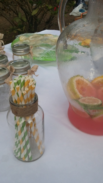 "Something pink to drink! Pink lemonade at the recent launch of Damien Williams' book ""Grab You Some Lemons."""