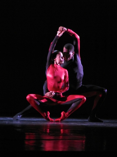Ballet dancers can twist their bodies... like these from the Dance Theatre of Harlem, who visited Jamaica a few years ago.