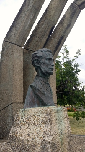 George William Gordon. The sculpture captures his spirit, I believe.