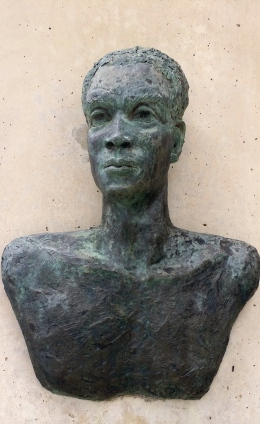 I was very drawn to Sam Sharpe's monument. This bronze sculpture showed a physical vulnerability, but his eyes are burning.
