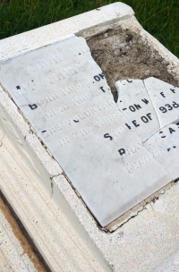 This grave is in such a bad state that we could not figure out whose it was. However, I have figured out it is that of Agnes 'Aggie Bernard' McLaughlin, who fed the workers during the 1938 Kingston waterfront strike. This is SAD.