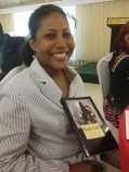 """Christina Williams read from her new book of poetry - a poem called """"Do Not Call Me Poor."""" (My photo)"""