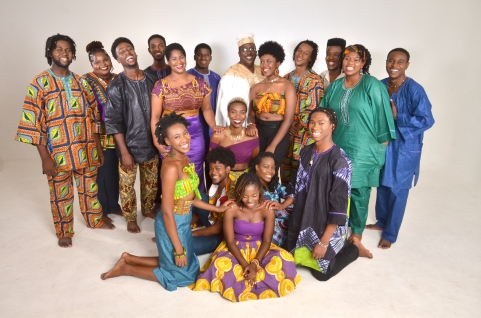 Smiles! Tribe Sankofa with fabian thomas in the middle in white.