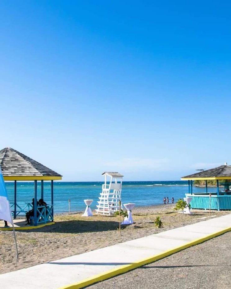 The Marking Stone Beach in Annotto Bay St. Mary is officially open to the public. The beach was upgraded by the Tourism Enhancement Fund (TEF) at a cost of $38.3 million. (Photo: Twitter)