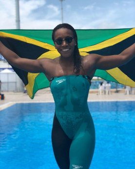 Our amazing swimmer Alia Atkinson received a National Honour (Order of Distinction) for her exceptional performances - and for being the first black woman to win a world swimming championships title.