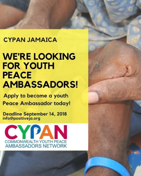 Become a Commonwealth Youth Peace Ambassador. Hurry and apply.