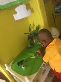 The Early Childhood Commission is working hard to upgrade kindergartens and basic schools across the island. It's a long task. Here a child is engaged at the Learning Centre at New Generation DayCare & Learning Centre. (Photo: Twitter)