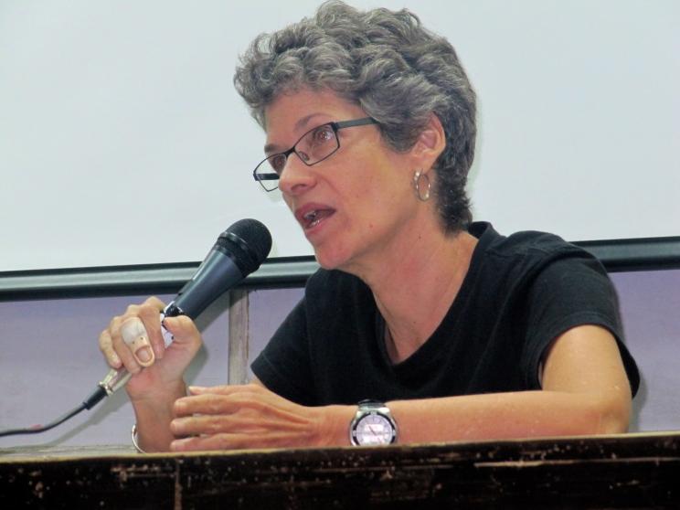 Award-winning Jamaican author Diana McCaulay. (My photo)
