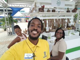Three fabulous social entrepreneurs: (left) Lacey-Ann Bartley of Bartley's All in Wood (right) Keisha Cole of 360 Recycle; and foreground Kadeem Pet-Grave of Educatours Ja. (Photo: Facebook)