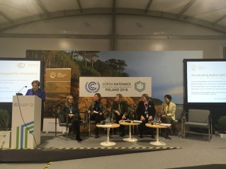 All female panel talking about accelerating action on climate adaptation. I think I see Michele Bachelet, 2nd right. (Photo: PPCR/Twitter)