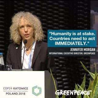 But then again...Executive Director of Greenpeace International Jennifer Morgan said this... (Photo: Twitter)