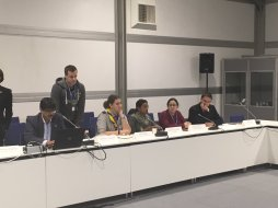 Jamaica's youth representative Jhannel Tomlinson (3rd from right) on a panel discussing environmental education at COP24, organised by the Foundation for Environmental Education. (Photo: Twitter)