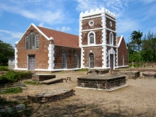 St. Peter's Church in Alley, Clarendon is one of the oldest Anglican churches in Jamaica, built in 1671. The original slate roof is no longer there but you can find a few pieces lying around.