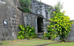 A doorway in Fort Frederick, St. George's, Grenada, which was built by the French in 1779 but taken over by the British.