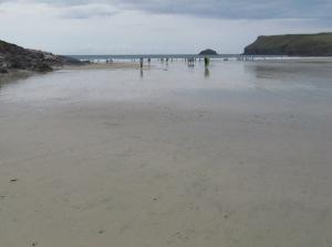 A beach in North Cornwall, UK