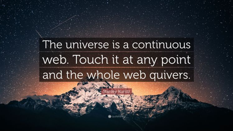 2893997-Stanley-Kunitz-Quote-The-universe-is-a-continuous-web-Touch-it-at